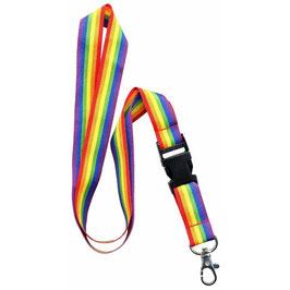 Regenbogen Schlüsselband mit Verschluss