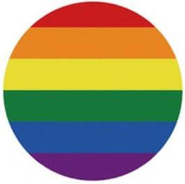 Rainbow Aufkleber rund 10 cm