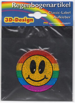 3D Regenbogen Aufkleber Smile (Reflektierend)