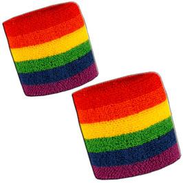 Rainbow Arm-Schweißband 2er