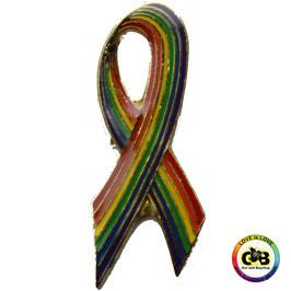 Aids-Schleife Rainbow Anstecker 2,5 cm