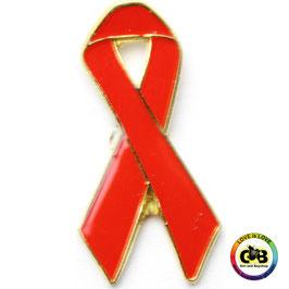 Aids-Schleife rot 2,5 cm Anstecker
