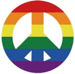 Rainbow Aufkleber Peace 10 cm