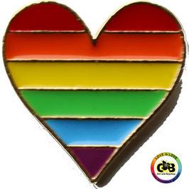 Rainbow Herz Pin
