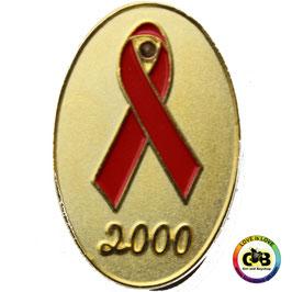 Aids-Schleifen Pin mit Leuchtdiode