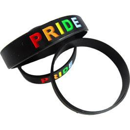Schwanzes Silikon Armband mit Pride gravur