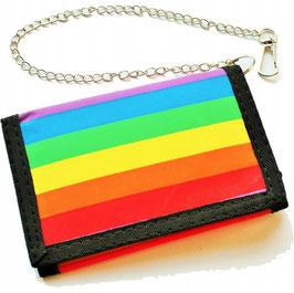 Rainbow Geldbörse mit Kette