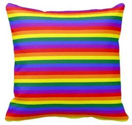 Regenbogen Kissenbezug 45 x 45 cm