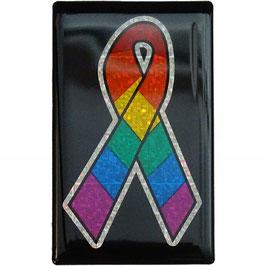 3D Regenbogen Aufkleber Aids-Schleife