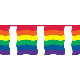 Rainbow Wimpel-Girlande 10 m