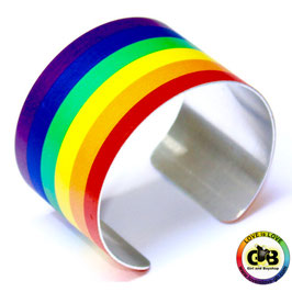 Regenbogen Metal Armreif