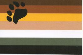 Bärenflagge Aufkleber 50 x 76 mm