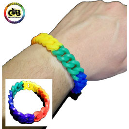 Rainbow Silikon Glieder Armband small