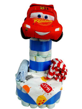 Tarta de pañales Cars