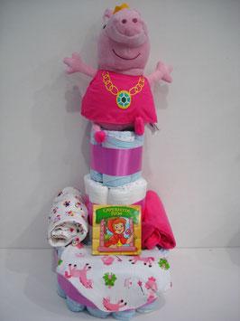 Tarta de pañales Peppa Pig