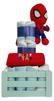 Cesta de pañales Spiderman