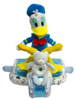 Triciclo con pañales Pato Donald