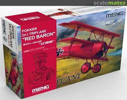 """Fokker DR.1 Triplane""""Red Baron""""(y compris un QS-002kit et un buste en résine 1/10) MENG  1/32"""