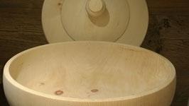 Zierbenholz Brotdose: Hand gedrechselt