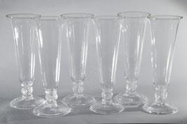 Böhmisches Waldglas, Champagnergläser, Set 6 Stck