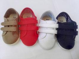110ZA Zapatillas Pique Dos Velcros Tallas: 20-30