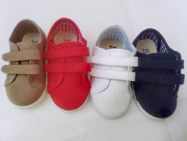 Ref: 110ZA Zapatillas Pique Dos Velcros Tallas: 20-30