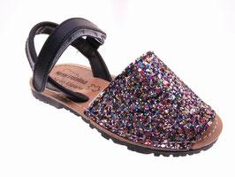 60SA Sandalia Glitter Con Velcro Tallas: 20-32