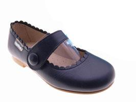 57MR Merceditas Piel con Cierre Boton Velcro Tallas: 24-33