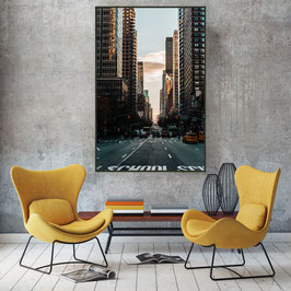 "Alu-Dibond mit Acrylglas ""Streets of New York"""