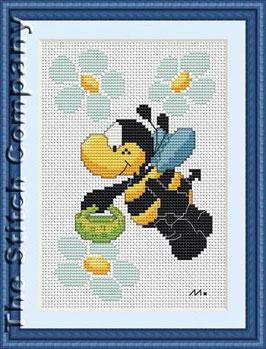 Bee met mandje