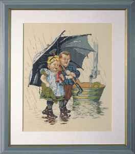 Ot en Sien onder de paraplu
