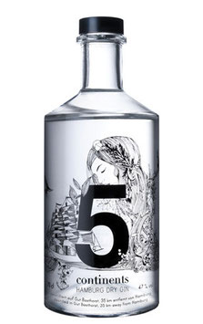 Gin 5 Continents (Bio) 70cl / 47%vol