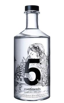 Gin 5 Continents (Bio) 70cl / 47%vol