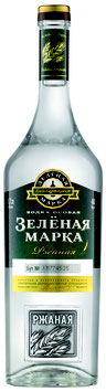 Green Mark Natural Rye Flavor Vodka - 40 % Alc Vol., 1000ml