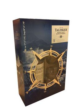 Talisker 10 Jahre - 0,7L, 45,8% Vol. (Geschenk-Set + 2 Gläser)