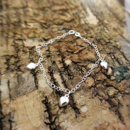 Silberarmkette mit Herzen