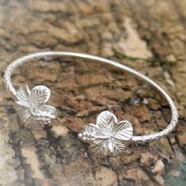 Silber Armspange Hibiskus-Blüte