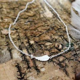 Silberarmkette mit Flügel, fein