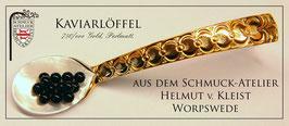 Kaviarlöffel aus Perlmutt & Gold