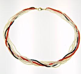 Perlen-Onyx-Korall-Kette