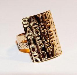 """Ring: """"Sator"""" klein"""