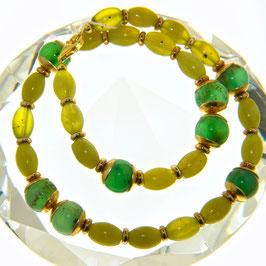 Serpentin-Chrysopras-Kette