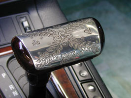 Silberne Automatik-Schalthebelverzierung mit Brillant