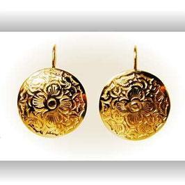 Ohrhänger mit gepunzten Goldscheiben