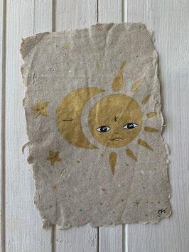 CARTE ORIGINALE KRAFT SUN & MOON