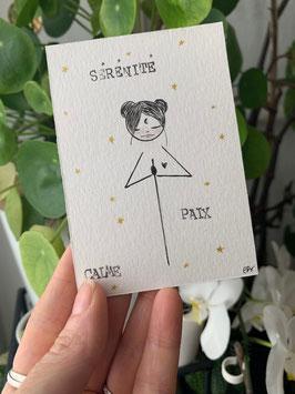 Petite Carte Titenoonette Sérénité