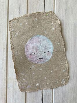 "Carte Originale Kraft Papier Recyclé ""White Moon"""