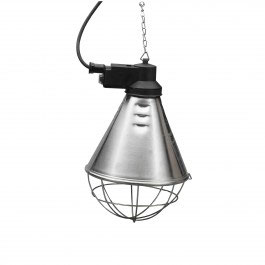 Warmtelamp- armatuur met spaarschakelaar
