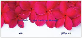 Gutschein für Lomi Lomi Massage