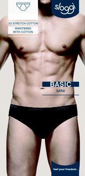 Heren Sloggi Basic Mini * Zwart 4st